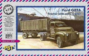 PST Ford G8TA Tractor w/Semi-Trailer Plastic Model Military Truck Kit 1/72 Scale #72065