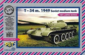 PST T54 1949 Soviet Mudium Tank Plastic Model Tank Kit 1/72 Scale #72068