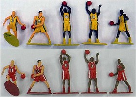 Playsets Basketball Action Figure Playset (10 Total. 5 Yellow, 5 Red Figures 2.5) (Bagged)