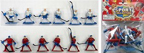 Playsets Hockey Action Figure Playset (12 Total. 6 White, 6 Red Figures 2.5'') (Bagged)