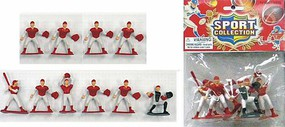 Playsets Baseball Action Figure Playset (10 Total. Red Figures 2.5'') (Bagged)