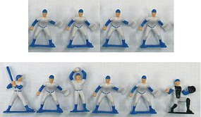 Playsets Baseball Action Figure Playset (10 Total. Blue Figures 2.5'') (Bagged)