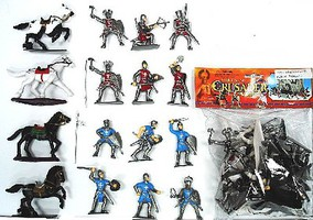 Playsets 1/32 Crusader Knights & Horse Figure Playset (12 Knights & 4 Horses) (Bagged)
