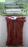 Playsets 1/32 Brown Fence Sections (8) (Bagged)