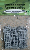 Playsets 1/32 Barbed Wire Fence Sections (15) (Bagged)