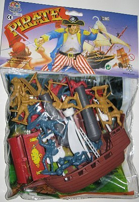 Playsets 1/32 Large Pirate Playset (25pcs) (Bagged)