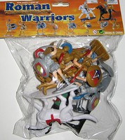 Playsets 1/32 Roman Warriors Figure Playset (10 w/Shields, Weapons & 2 Horses) (Bagged)