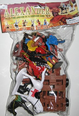 Playsets 1/32 Alexander the Great Warriors & Armor Figure Playset (8 w/2 Horses, Chariot, Catapult & Acc) (Bagged)