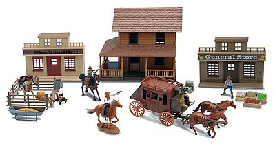 Playsets 1/32 Big Country Western Town Deluxe Playset (Window-Boxed)