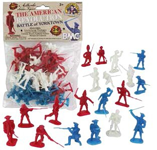 Playsets 54mm American Revolution Battle of Yorktown Figure Playset (34pcs) (Bagged) (BMC Toys)