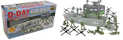 Playsets 54mm D-Day Utah Beach Diorama Playset (40pcs) (Boxed) (BMC Toys)