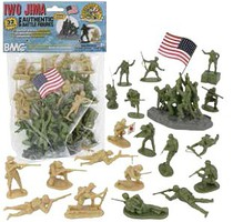 Playsets 54mm Iwo Jima Figure Playset (Olive/Tan) (32pcs) (Bagged) (BMC Toys)