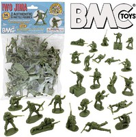 Playsets 54mm Iwo Jima US Marines Figure Playset (Olive) (36pcs) (Bagged) (BMC Toys)