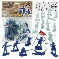 Playsets 54mm San Juan Hill Buffalo Soldiers Figure Playset (32pcs) (Bagged) (BMC Toys)