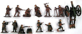 Playsets 1/32 WWII Russian Infantry Figure Playset (12 w/Weapons & Cannon) (Bagged)