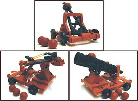 Playsets 1/32 Medieval Armor Playset (Catapult, Crossbow, Cannon) (Bagged)