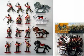 1/32 British Light Cavalry Figure Playset (12 w/4 Horses) (Bagged)