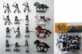 Playsets 1/32 French Infantry Figure Playset (12 w/4 Horses) (Bagged)