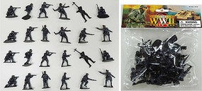 1/32 WWII German Infantry Figures (24 Gray) (Bagged)