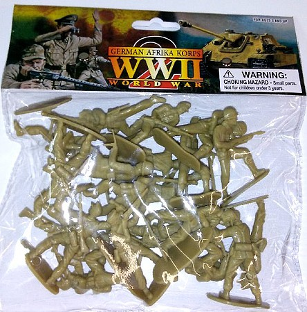 Playsets 1/32 WWII German Afrika Corps Figures (20 Tan) (Bagged)