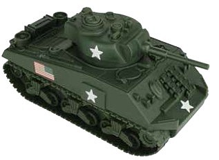 Playsets 54mm Sherman Tank (Olive Green) (BMC Toys)