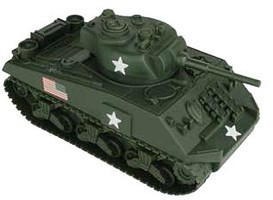 54mm Sherman Tank (Olive Green) (BMC Toys)