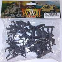 Playsets 1/32 WWII German Afrika Corps Figures (20 Grey) (Bagged)