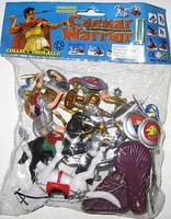Playsets 1/32 Caesar Knights & Horses Playset (12 w/Shields, Weapons, 2 Horses & Acc) (Bagged)