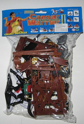 Playsets 1/32 Caesar Knights & Chariots Playset (7 Knights, Shields, Weapons, 2 Chariots, 2 Horses, Cannon & Acc) (Bagged)
