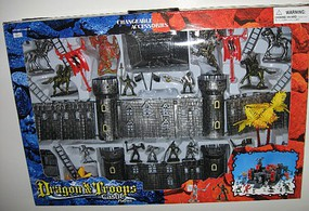 Playsets 1/32 Dragon & Troops Castle Playset (Fort, Castle, Dragon, Figures & Acc) (Window Boxed)