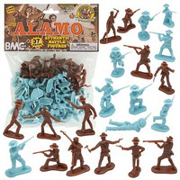 Playsets 54mm The Alamo Figure Playset (37pcs) (Bagged) (BMC Toys)