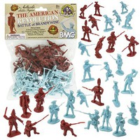 Playsets 54mm American Revolution Battle of Brandywine Figure Playset (44pcs) (Bagged) (BMC Toys)