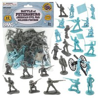 Playsets 54mm American Civil War Battle of Petersburg Figure Playset (32pcs) (Bagged) (BMC Toys)