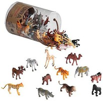 Playsets 1/32 Wild Animals (60psc/Tub)