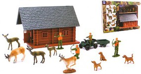 Playsets 1/32 Wild Hunting Cabin & Acc Playset (Window-Boxed)