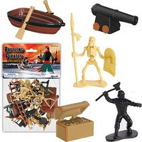 Playsets 1/32 Battling Pirates Playset (Pirates, Skeleton Warriors & acces. 36pc Total) (Bagged)