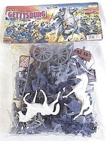 Playsets 54mm Gettysburg Union/Confederate Figure Playset (50pcs) (Bagged) (Americana)