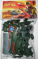 Playsets 54mm Modern Super Army Playset (72pcs) (Bagged) (Americana)