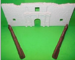 Playsets 54mm Alamo Fort Facade w/Support Sections (Bagged) (Americana)
