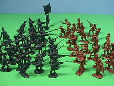 Playsets 54mm Alamo Texian Soliders & Mexican Troops Figure Playset (50pcs) (Bagged) (Americana)