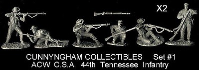 Playsets 1/32 American Civil War Confederate 44th Tennessee Infantry Figure Playset (12pc) (Bagged) (Cunnyngham)