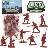 Playsets 1/32 Revolutionary War British Regular Army Playset (16) (Bagged) (LOD Enterprises)
