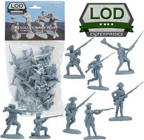 Playsets 1/32 Revolutionary War American Regular Army Playset (16) (Bagged) (LOD Enterprises)