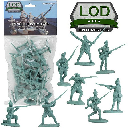 Playsets 1/32 Revolutionary War American Light Infantry Playset (16) (Bagged) (LOD Enterprises)