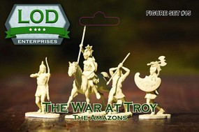 Playsets 1/32 The War At Troy The Amazons Playset (12) (Bagged) (LOD Enterprises)