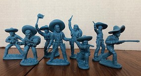 Playsets 1/32 Mexican Bandits Figure Playset (16) (Bagged) (LOD Enterprises)