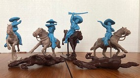 Playsets 1/32 Mexican Bandits Mounted Figure Playset (8) (Bagged) (LOD Enterprises)