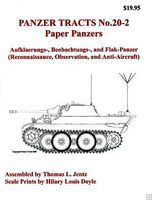 Panzer-Tracts Panzer Tracts No.20-2 Paper Panzers Recon, Observation, Anti-Air Military History Book #202