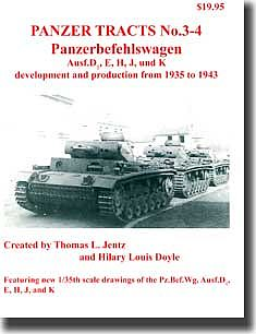 Panzer Tracts Panzer Tracts No.3-4 PzBefwg Ausf D/E/H/J/K -- Military History Book -- #34