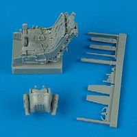 Quickboost MiG29A Ejection Seat w/Safety Belts Plastic Model Aircraft Accessory 1/32 Scale #32050